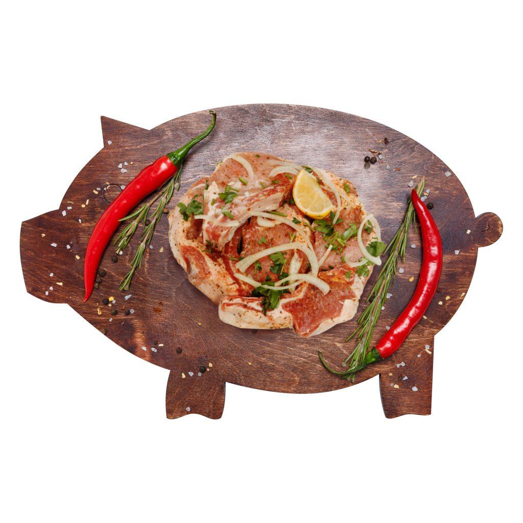 Шашлык из корейки маринованный Свинина (собственное пр-во)