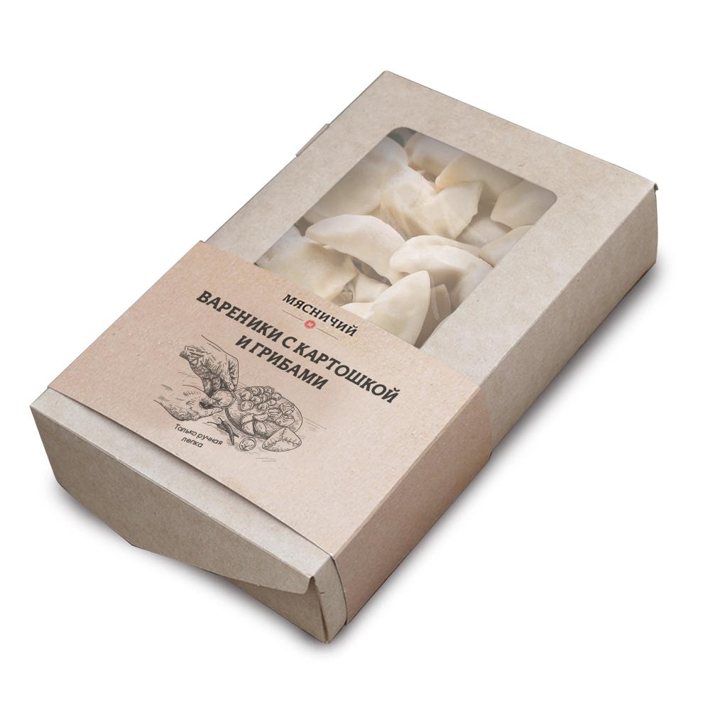 Вареники с картофелем и грибами (собственное производство)