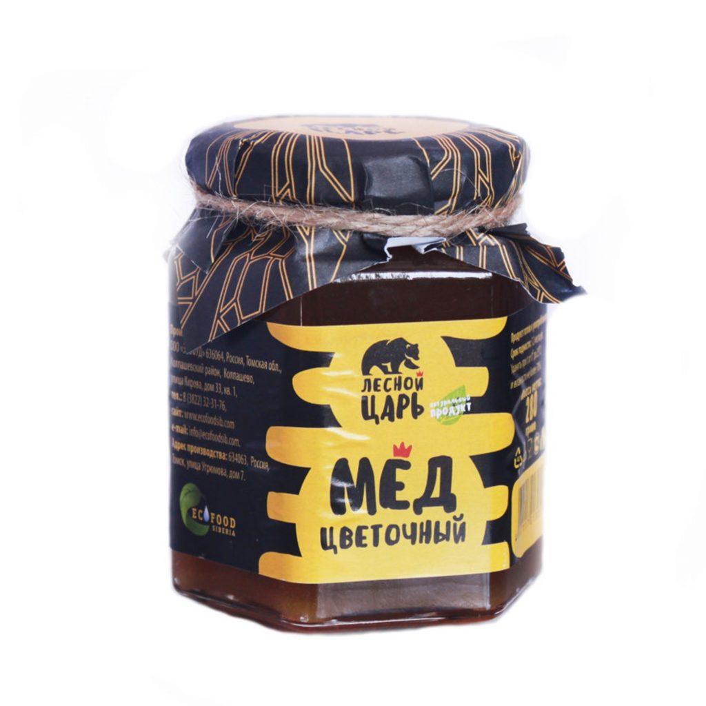 Мёд цветочный Лесной Царь ст/б 280гр Сибирские афины