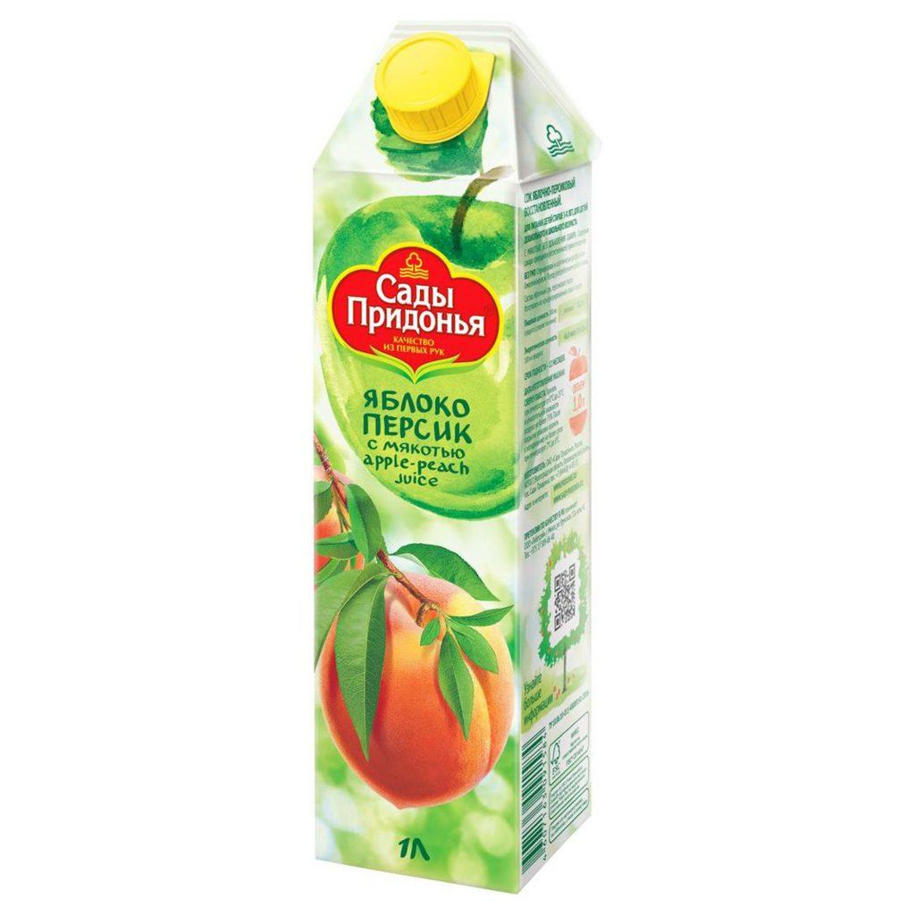Сок Сады Придонья ябл-персиковый 1л