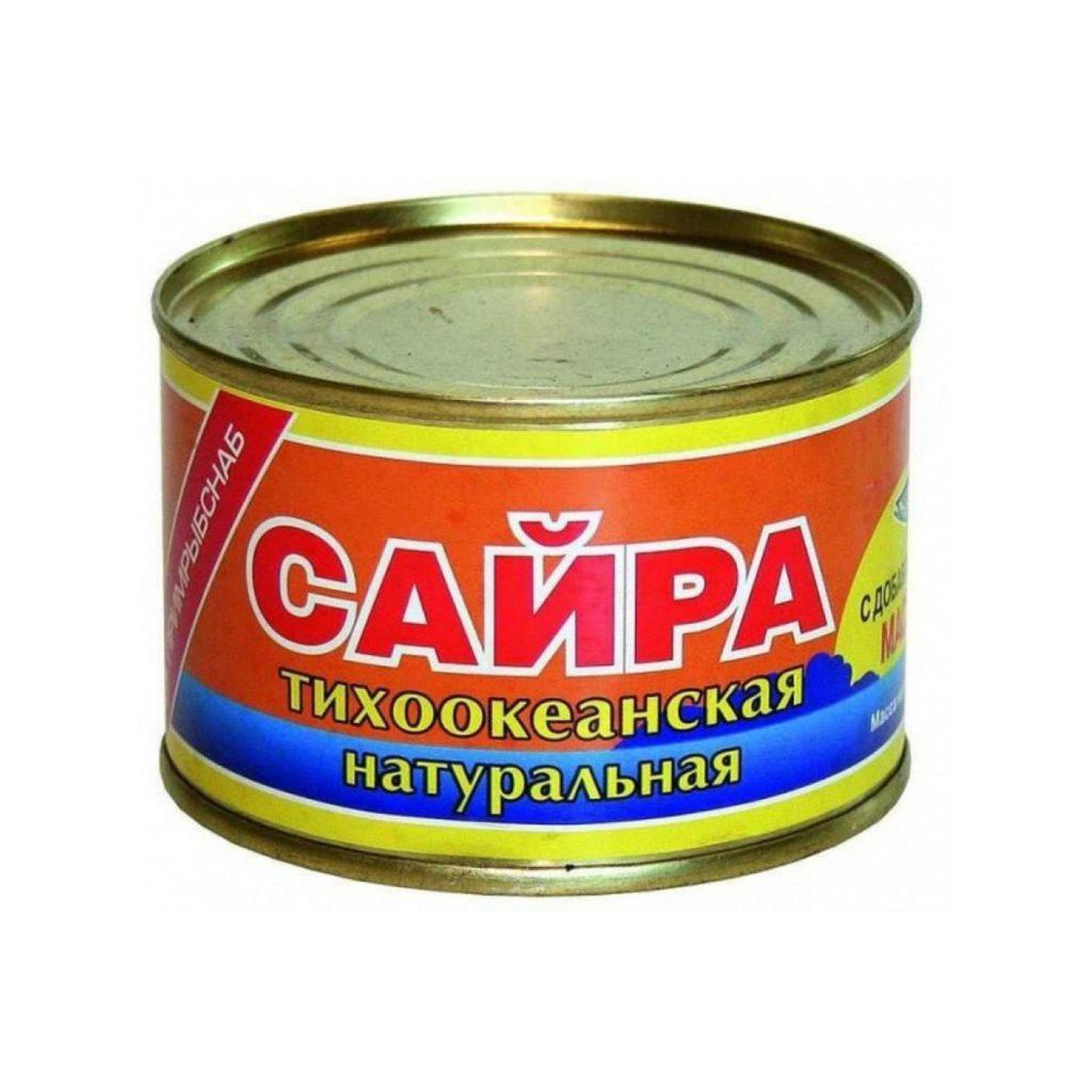 Сайра натуральная с д/м ПримРыбСнаб 250гр ЮМРФ