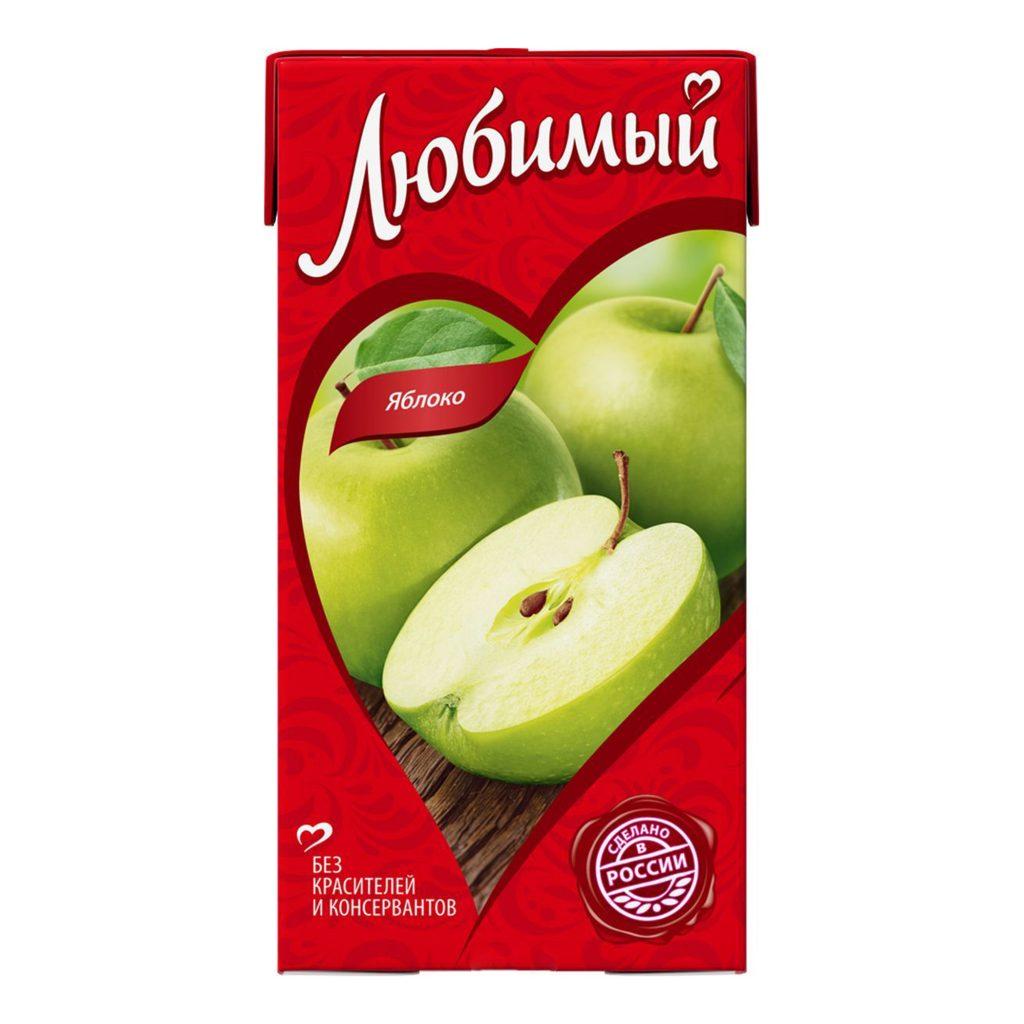Нектар Любимый яблоко осветленное 0,95л