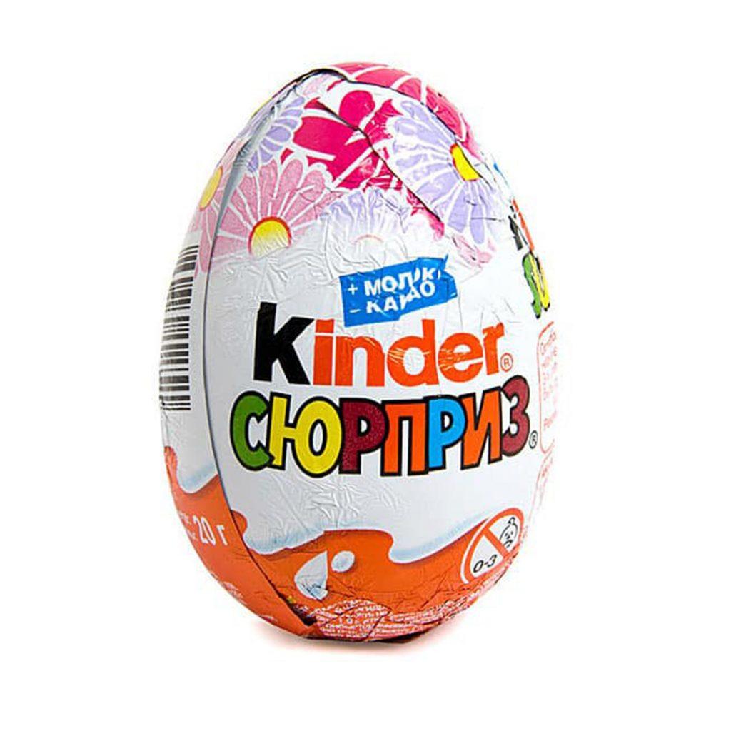 """""""Киндер Сюрприз"""" – шоколадное яйцо (Лицензия) (Т36) 20гх36"""