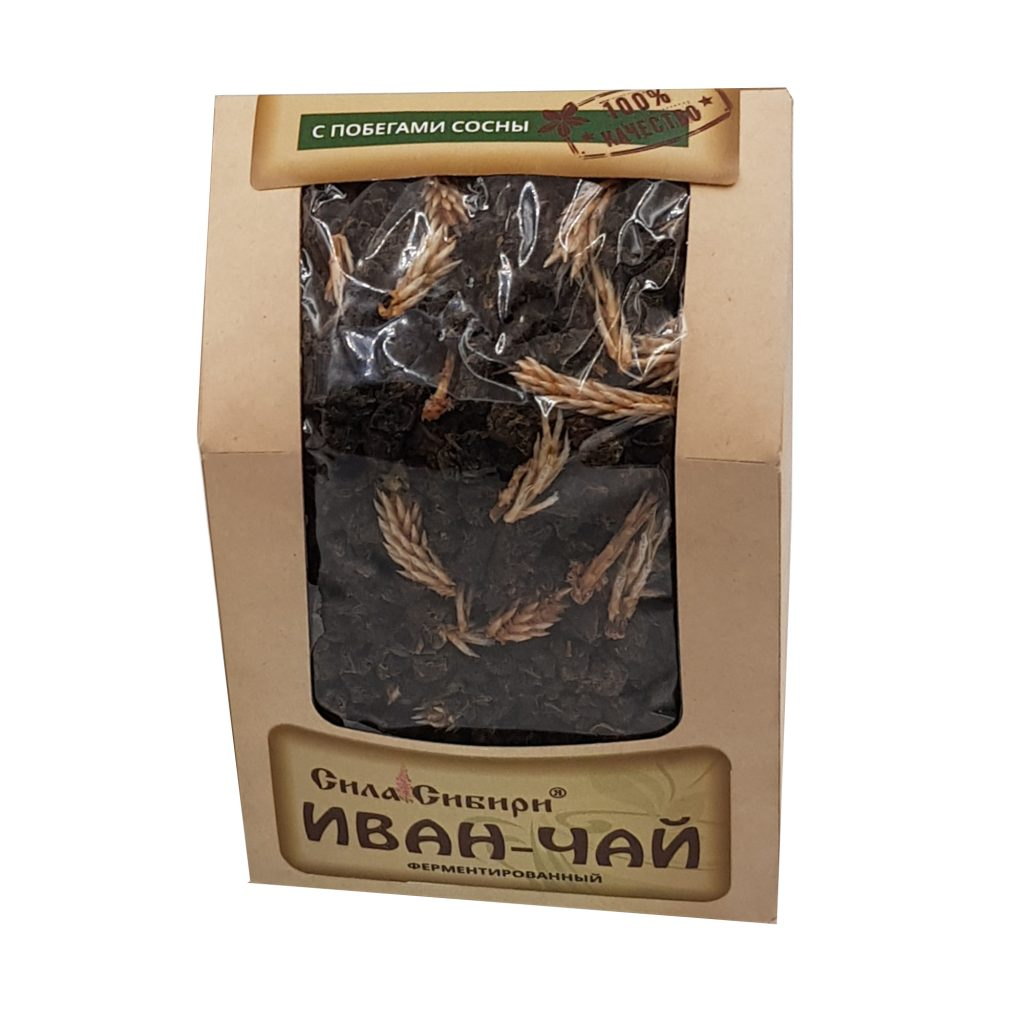 Чай ферментированный Иван-чай 100% гранулир. Сила Сибири 100г, шт
