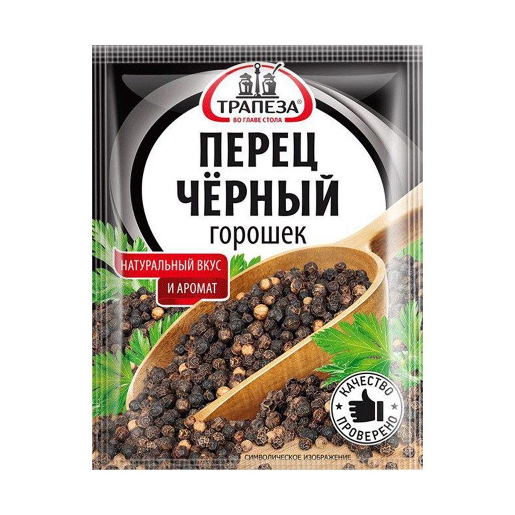Приправа Трапеза Перец черный горошек 15г/25