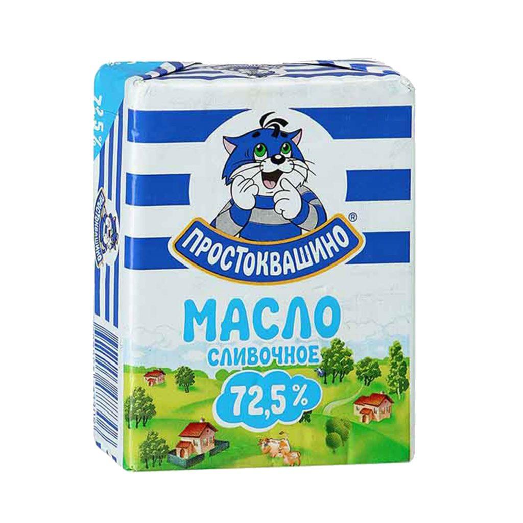 БЗМЖ Масло сливочное Простоквашино 72,5% 180гр Фольга