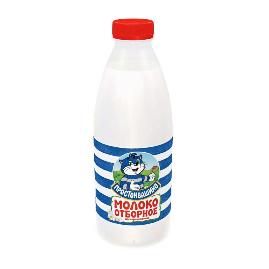 БЗМЖ Молоко Простоквашино пастеризованное 2,5% 930гр Пэт