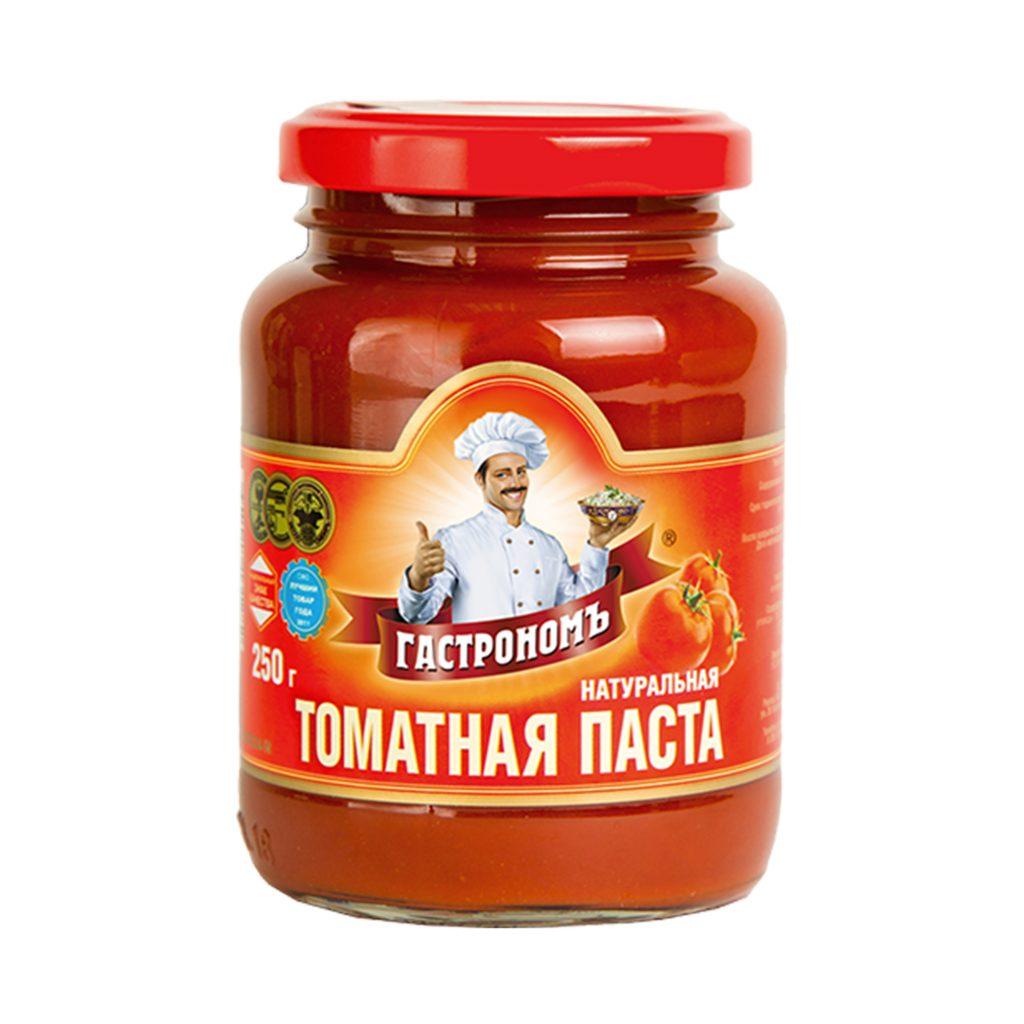 Томатная паста Гастрономъ 25% 250гр ст/б