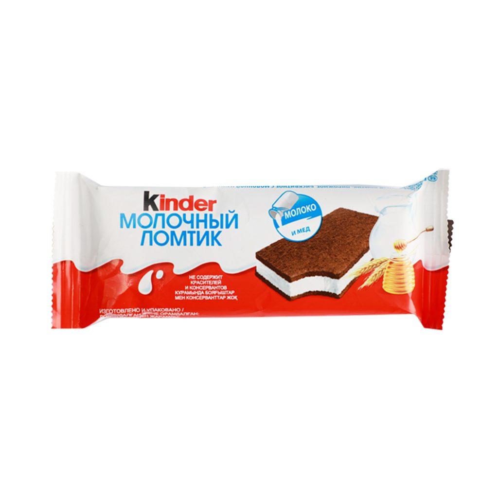 Киндер Молочный ломтик Бисквит 27,3% 28гр