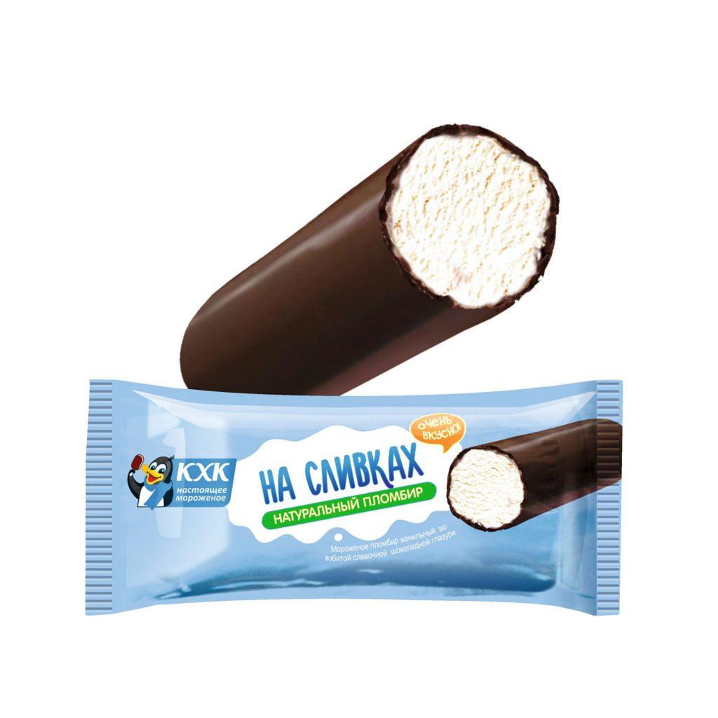 БЗМЖ Мороженое Трубочка Пломбир на сливках 80г