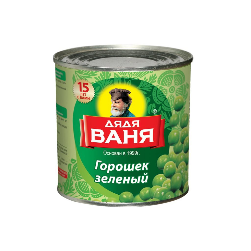 Горошек зеленый Дядя Ваня 400гр ж/б