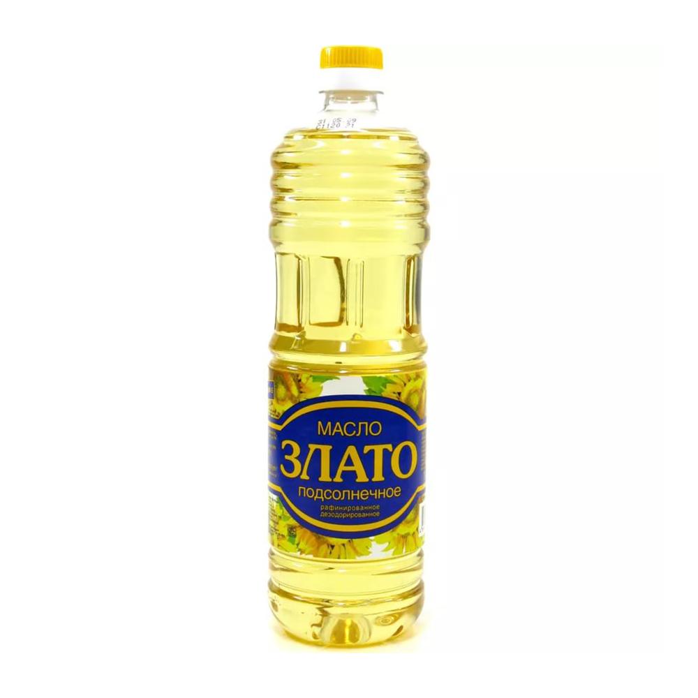 Масло Злато подсолнечное рафин.дезод. 1 сорт, 1л