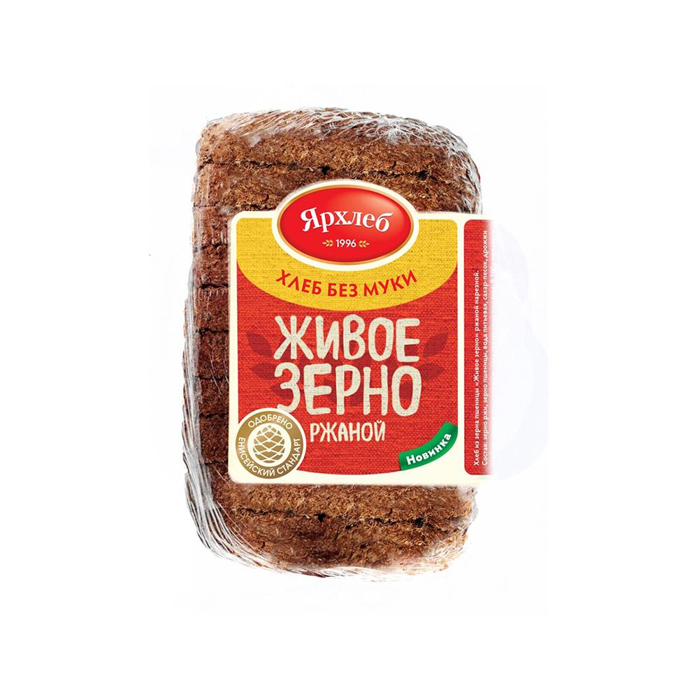 Хлеб из зерна ржи ЖИВОЕ ЗЕРНО нарезка 280г ЯрХлеб