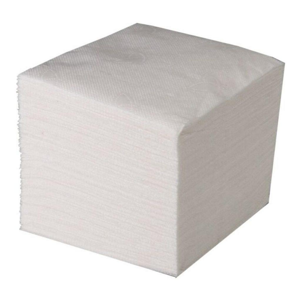 Салфетки бумажные 1сл 100л 24*24см БЕЛЫЕ эконом Н 1/60уп