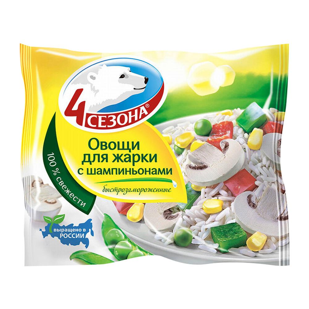 Овощные смеси Овощи для жарки с шампиньонами 400гр. (4 сезона)