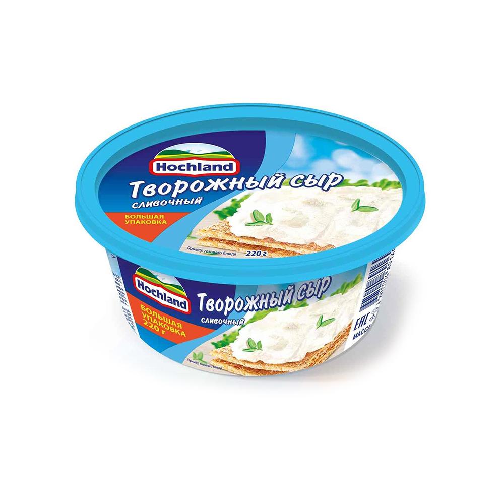 Сыр творожный Хохланд сливочный 60% 140г (ванночка)