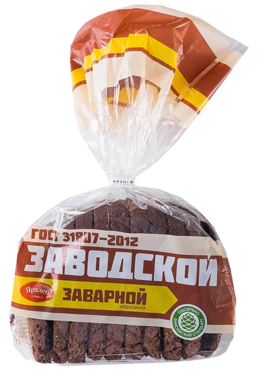 Хлеб ржаной Заводской 350г нарезка Ярхлеб