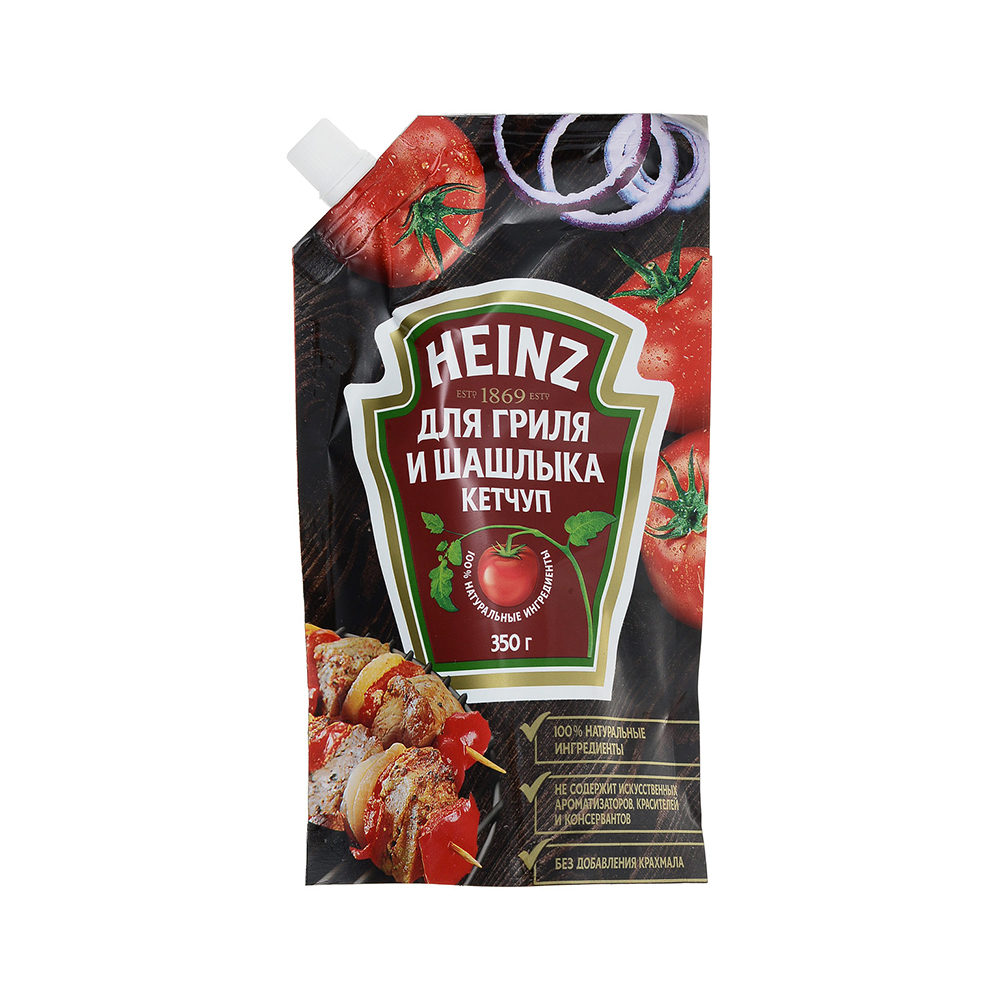 Кетчуп Хайнц Для гриля и шашлыка 350гр д/п