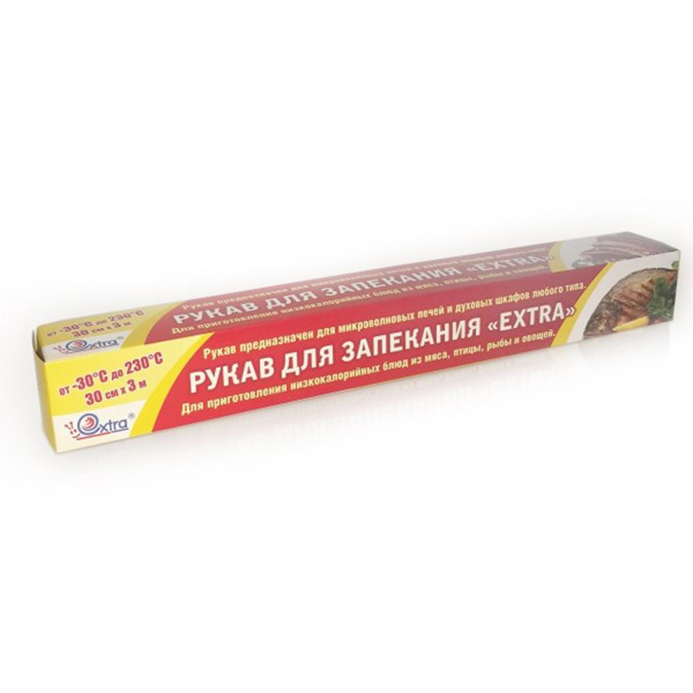 Рукав для запекания 30см*3м (1рул) прозрачный в футляре EXTRA ПЭТ 1/25рул