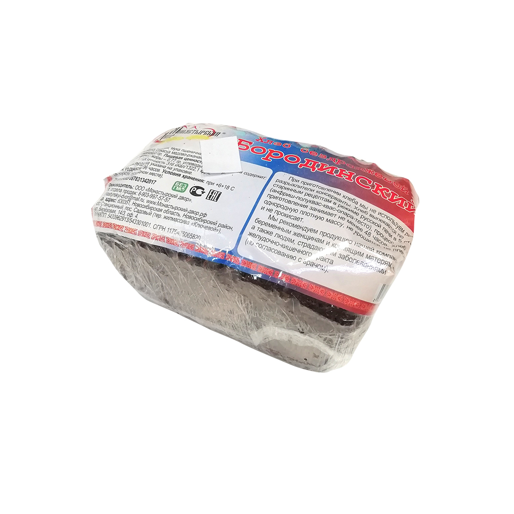 Хлеб Бородинский 350 гр Монастырский двор