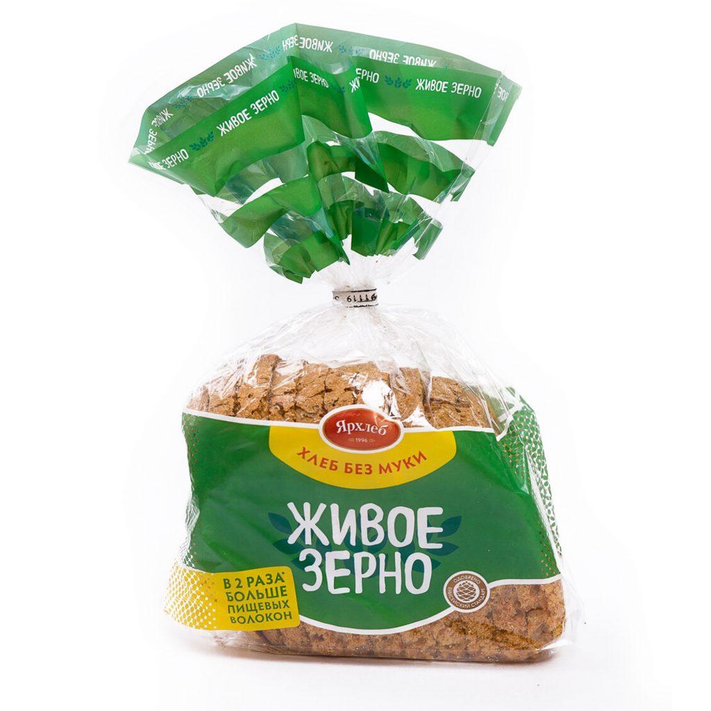 Хлеб из зерна пшеницы ЖИВОЕ ЗЕРНО нарезка 600г ЯрХлеб40751