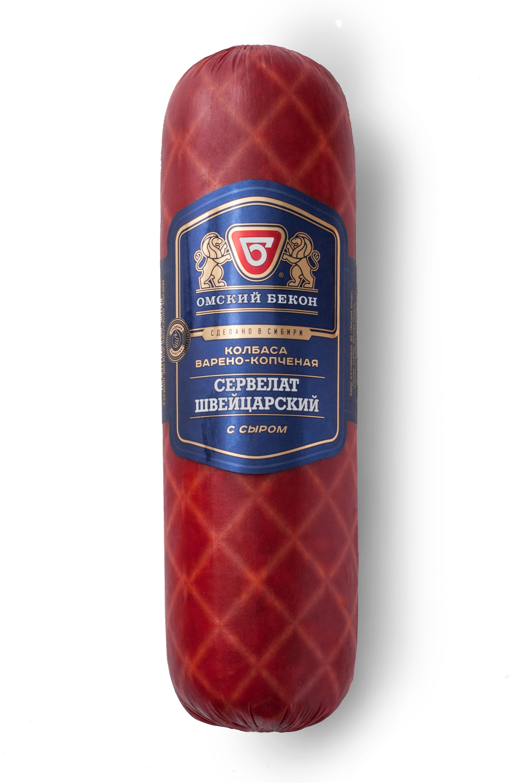 Сервелат Швейцарский с сыром  500 гр Омский бекон