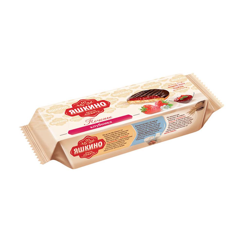 Печенье сдобное Яшкино клубника 137г