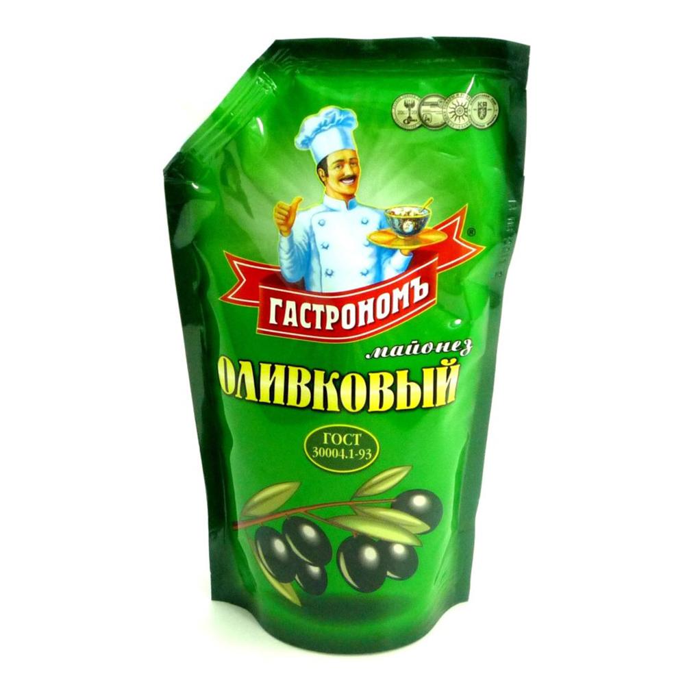 Майонез Гастрономъ Оливковый 50% 400гр д/п