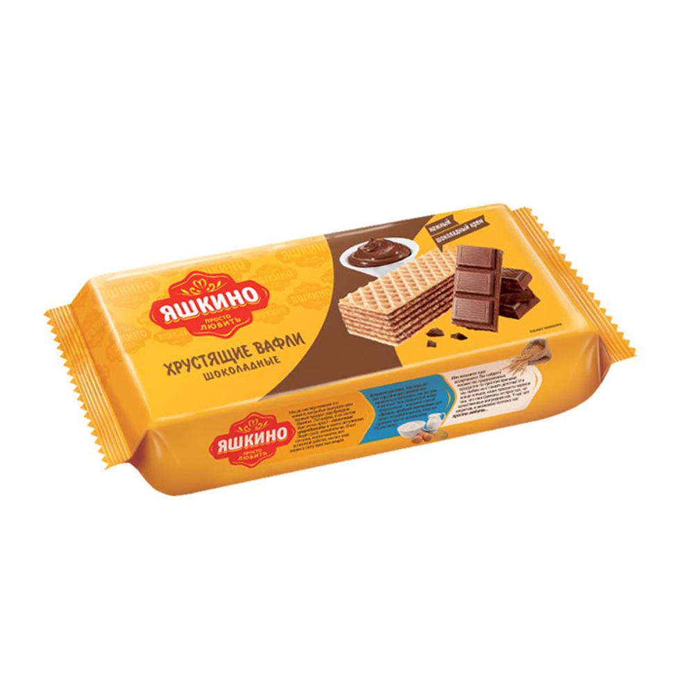 Вафли Яшкино 300г Шоколадные