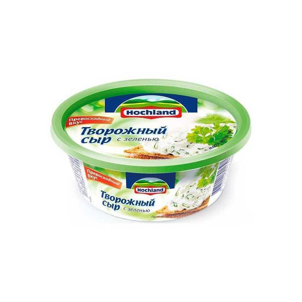 Сыр творожный  Хохланд с  зеленью 60% 140г (ванночка)