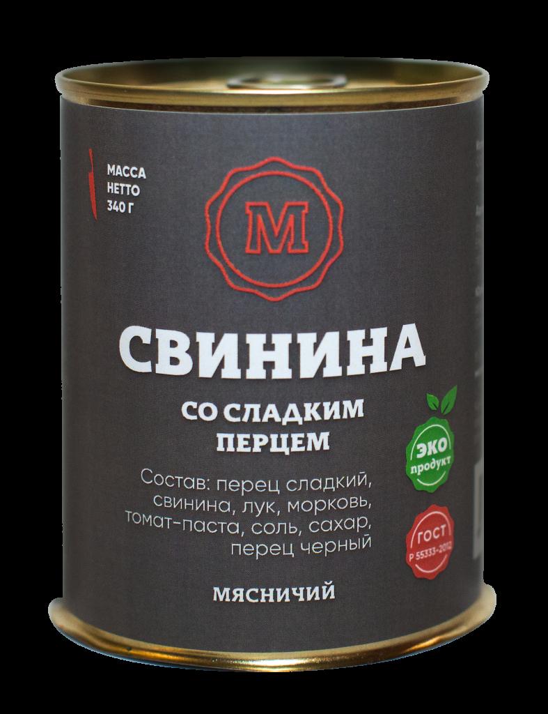 Свинина со сладким перцем 340 г. ж/б ТМ Мясничий40727