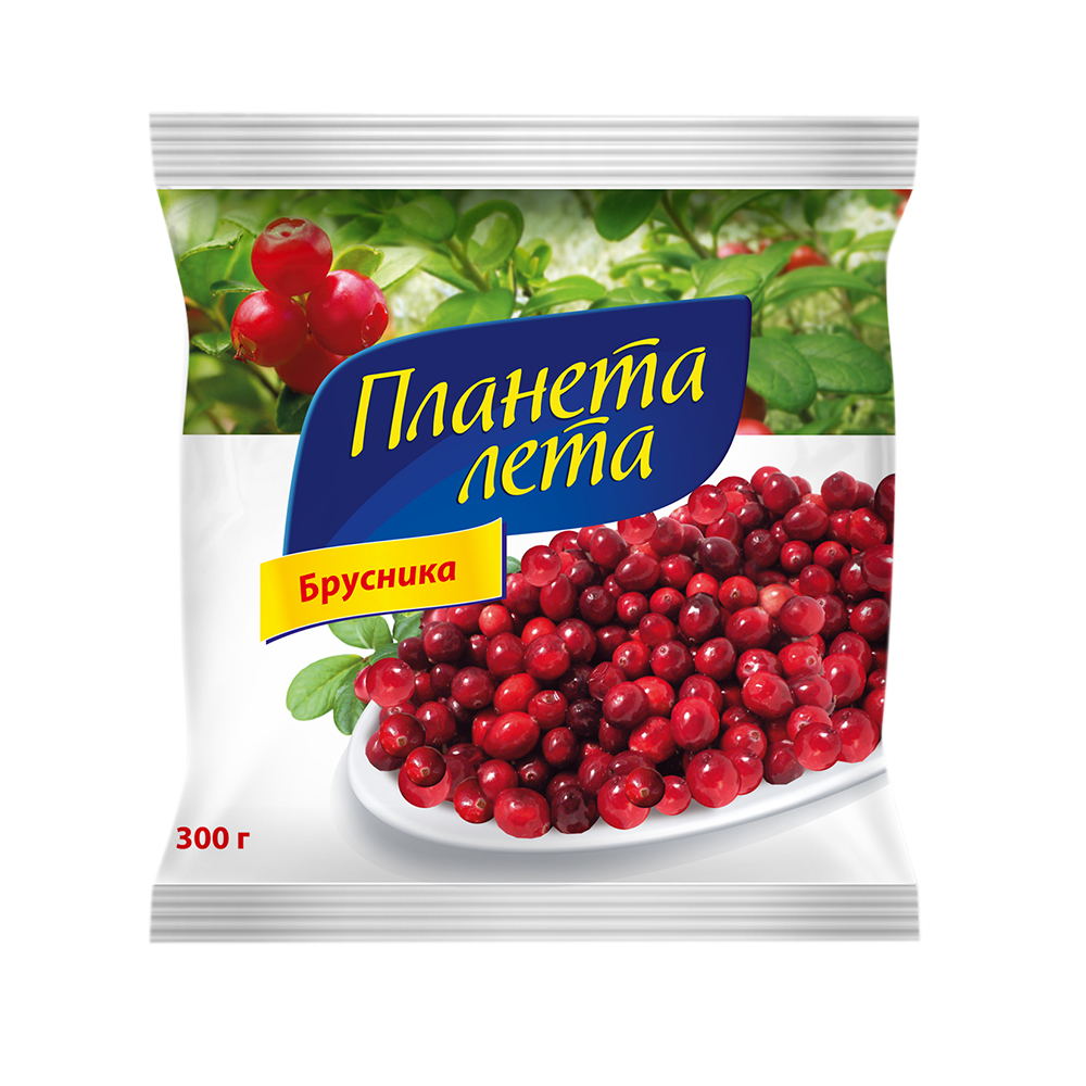 """Брусника свежемороженная """"Планета Лета"""", 300 гр."""