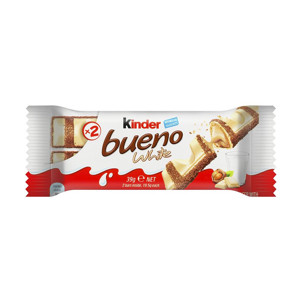 """Киндер Буэно"" – ваф. батонч. в белом шоколаде (Т2) 39гх30"