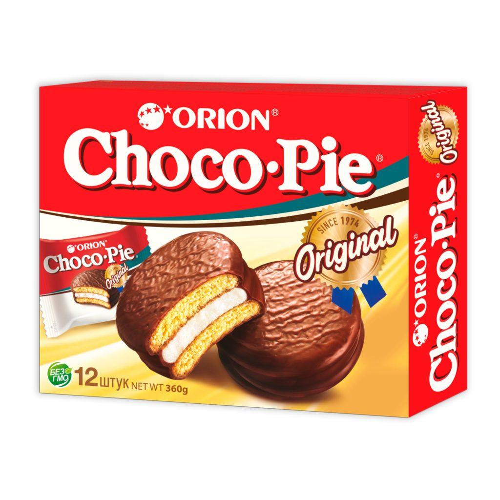 Воздушный бисквит Чоко Пай с шок. глазурью 12шт