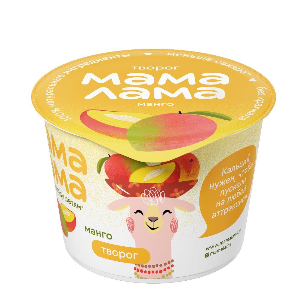 Творог Мама Лама манго 3,8% 100гр.