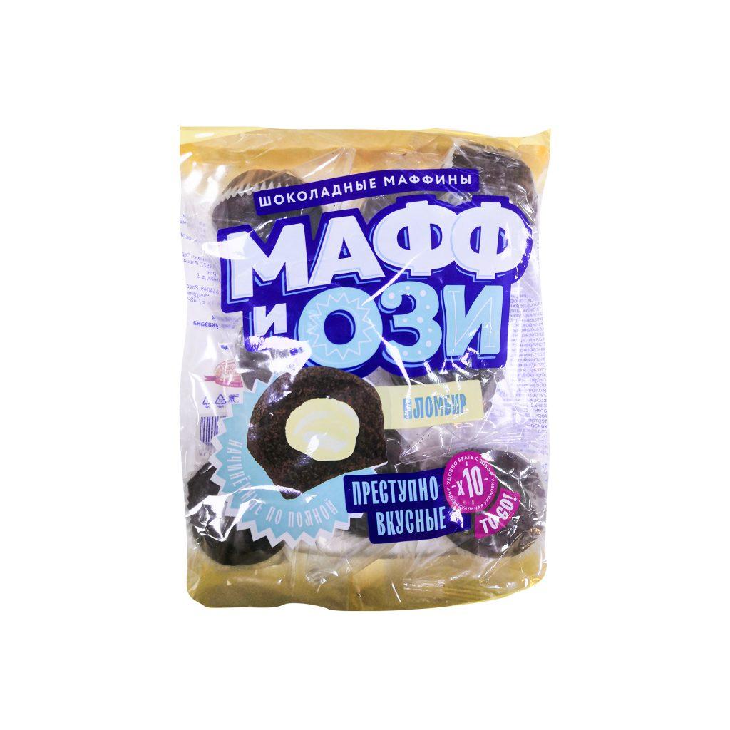 """Маффин шоколадный с начинкой """"Пломбирная"""", ФАС (0,36кг/7шт/2,52кг)"""
