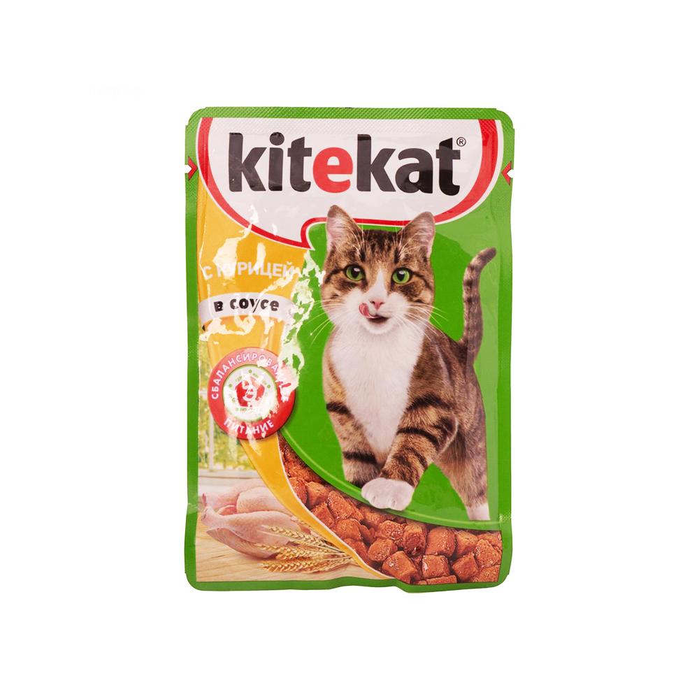 Корм Китикет д/кошек Курица в соусе 85г