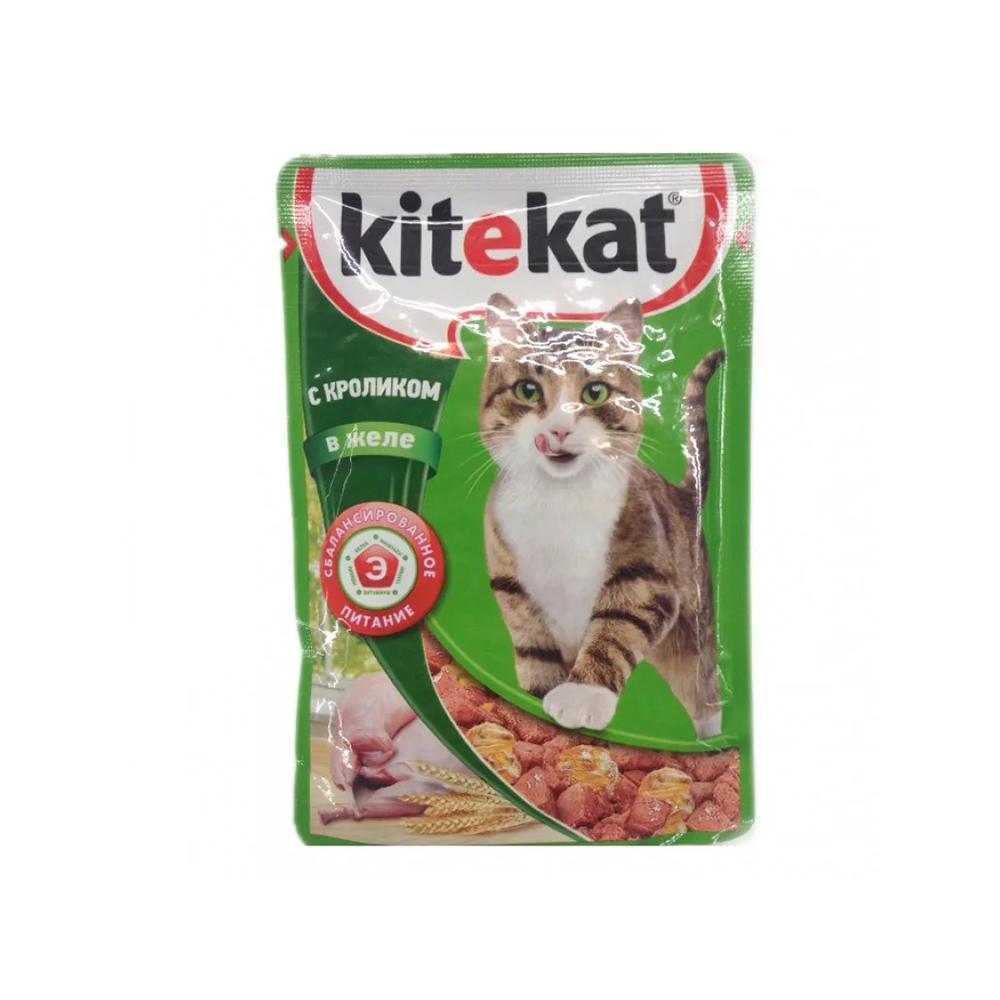 Корм Китикет д/кошек Кролик в желе 85г