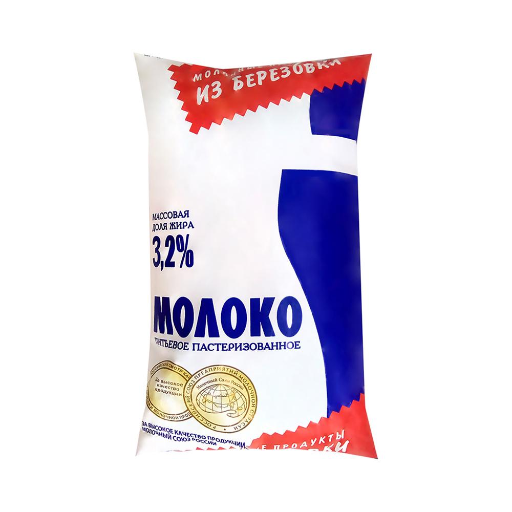 Молоко из Березовки 3,2% 800мл п/п КрасМол