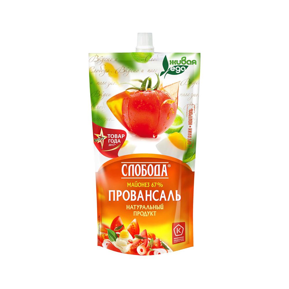 Майонез Слобода Провансаль 67% 400мл д/п