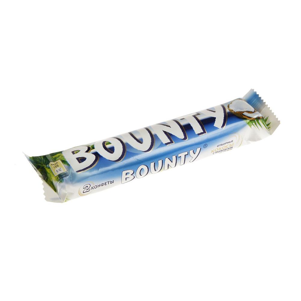 Шоколадный батончик Баунти 55гр