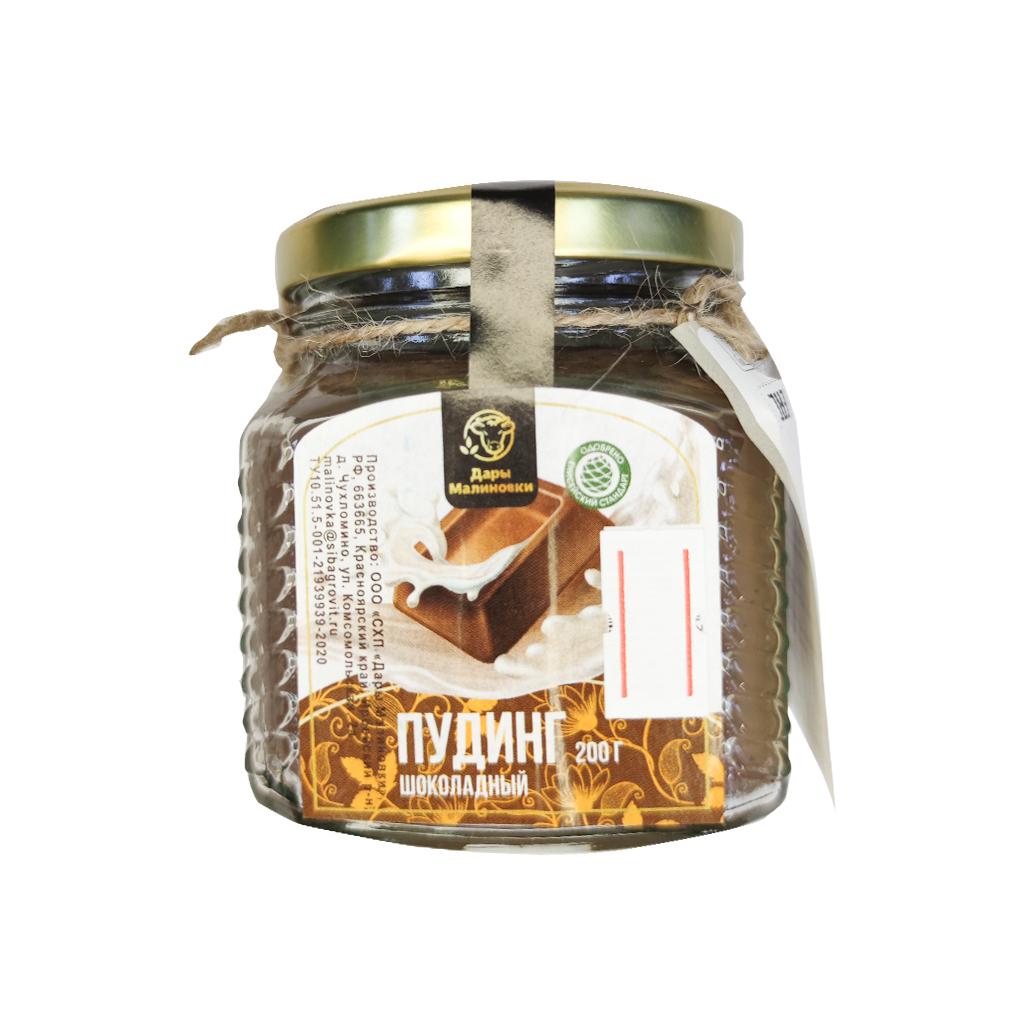 Пудинг Шоколадно-сливочный с/б 200гр Дары малиновки