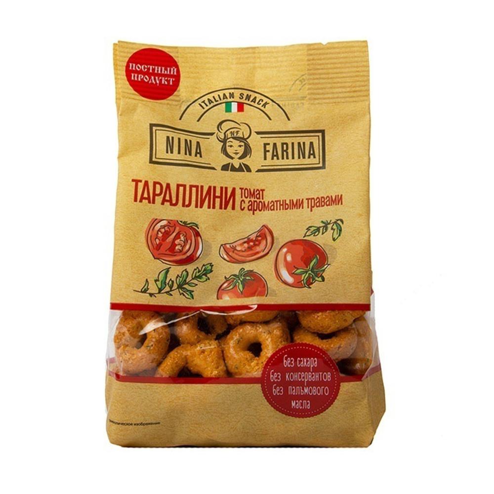 Тараллини Nina Farina 180г томат и аромат.травы