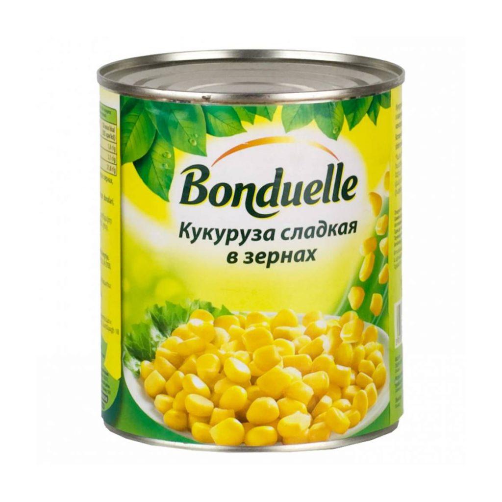 Кукуруза Бондюэль сладкая 425мл ж/б