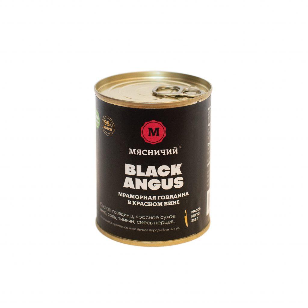 Говядина тушеная мраморная Black Angus 338гр ж/б Мясничий85472