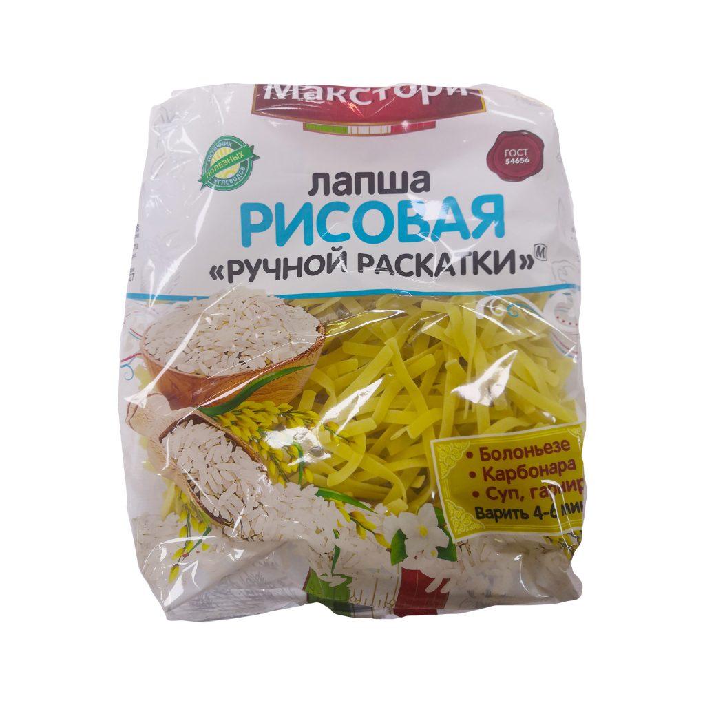 Рисовая ЛАПША 250г/6 Макстори