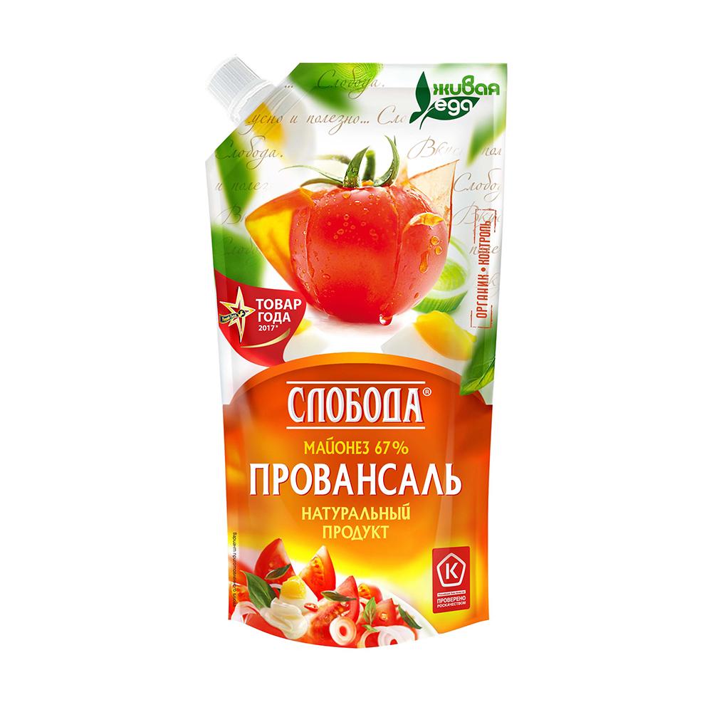 Майонез Слобода Провансаль 67% 200мл д/п